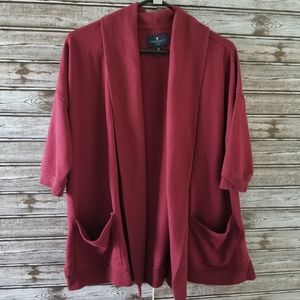 American Eagle Oversized Open Front Cardigan XS-S